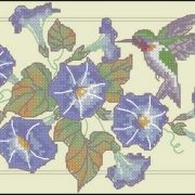 Dimensions 65059 Hummingbird and Morning Glories